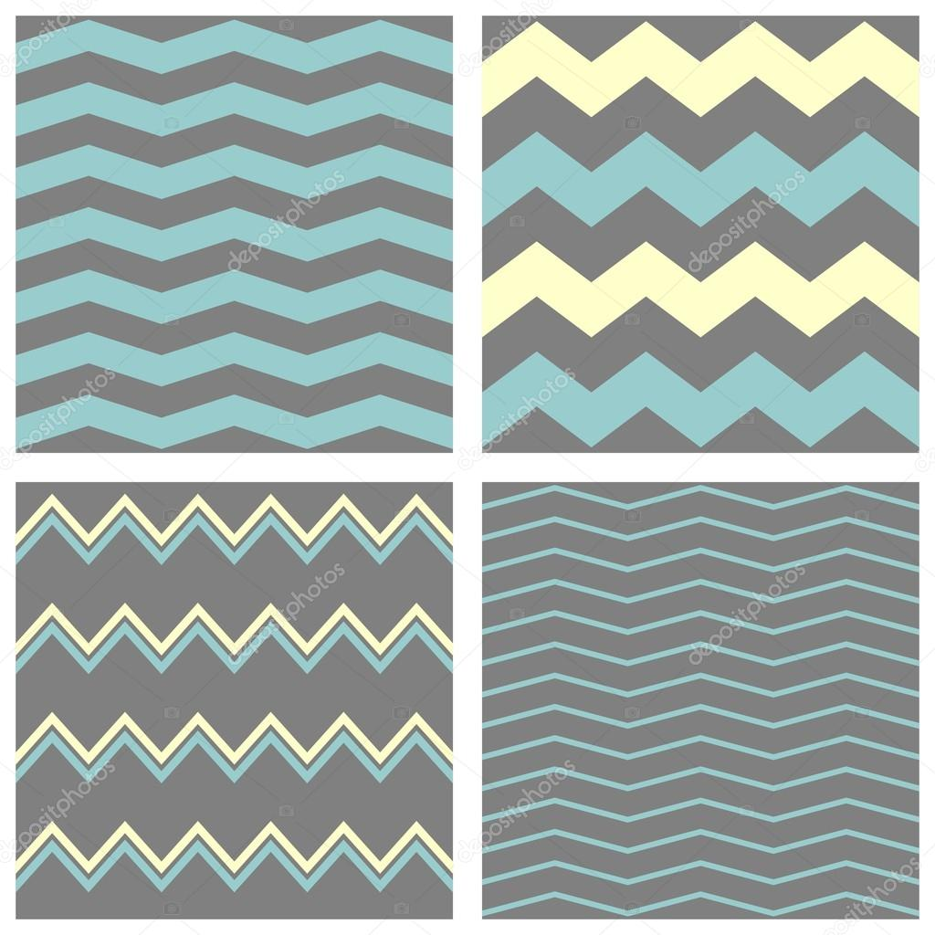 tile chevron vector pattern set with grey blue and yellow zig zag background vector image by c mala ma vector stock 67194363