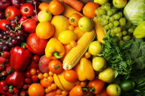 Фон для сайта овощи. Красочный фон фрукты и овощи ...
