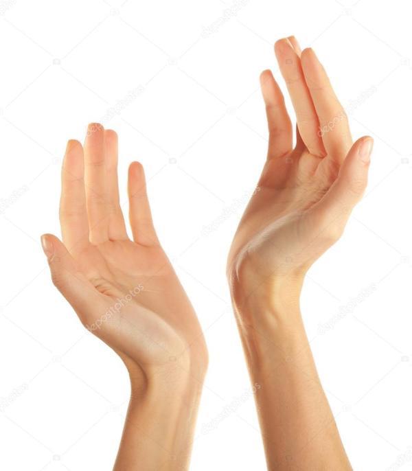 Человеческие руки изолированы на белом фоне — Стоковое ...