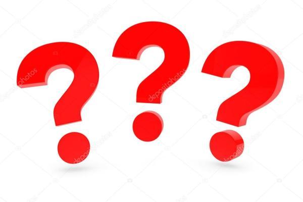Три красных знака вопроса — Стоковое фото © doomu #61277885