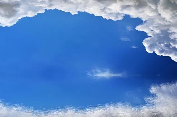 Граница голубое небо облака рамка для фона — Стоковое фото ...