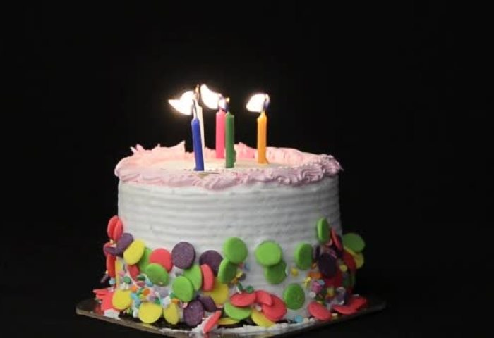 Birthday Cake And Candles Stock Video Timothyoleary 58008199