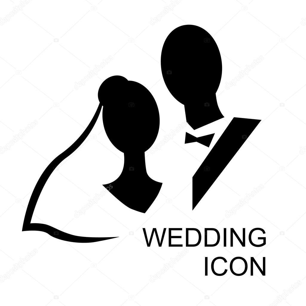 Wedding Bride And Groom Icon