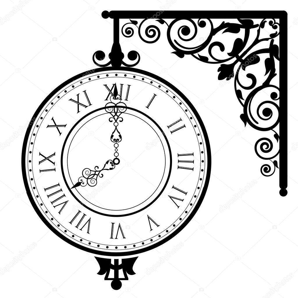 Illustrazione Vettoriale Di Orologio D Epoca