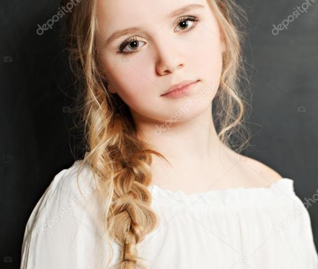 Cute Teen Girl With Blond Hair Stock Image