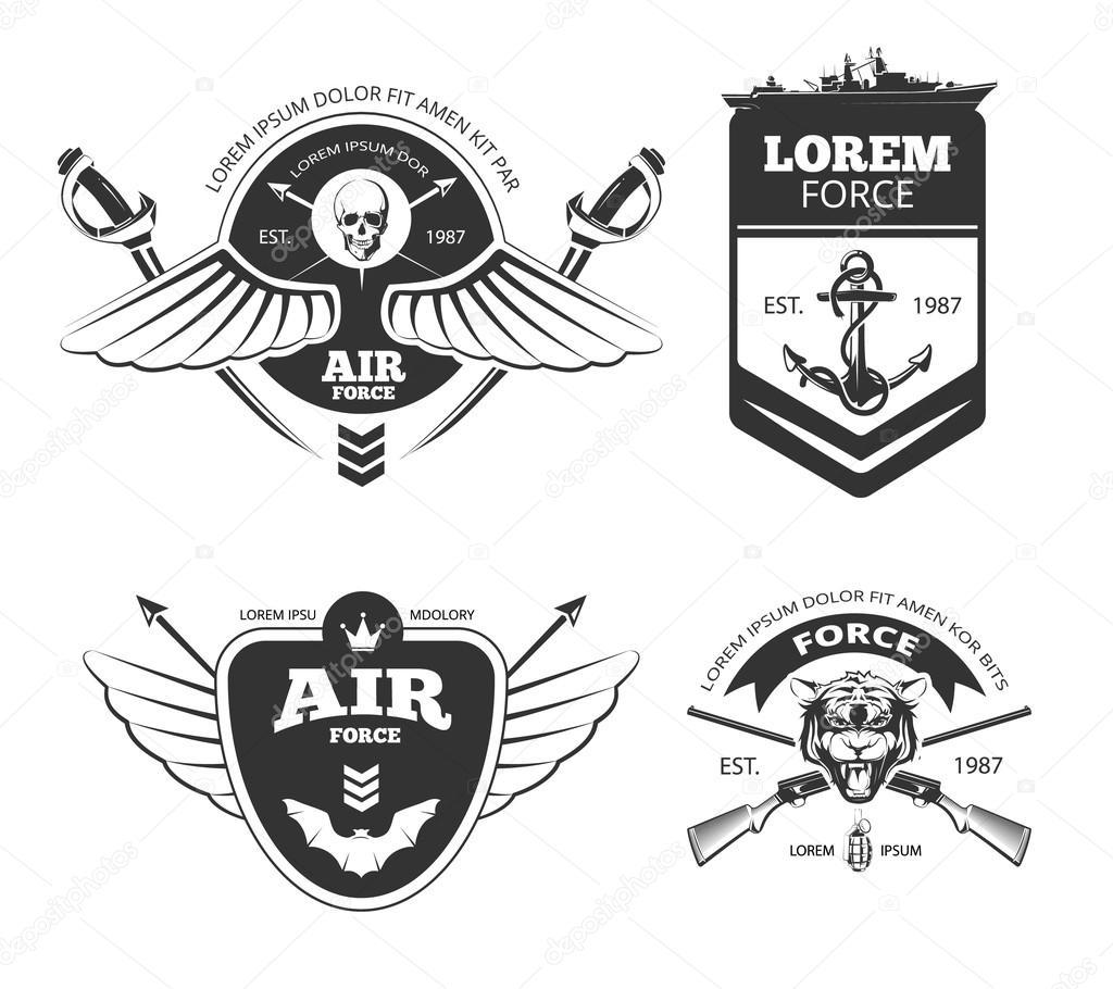 Vector Logotipos Militares
