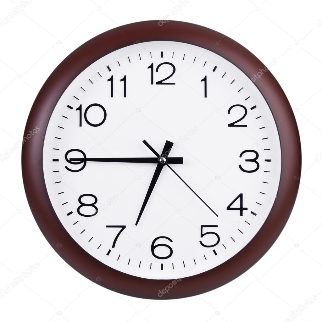 Clock Shows A Quarter To Seven