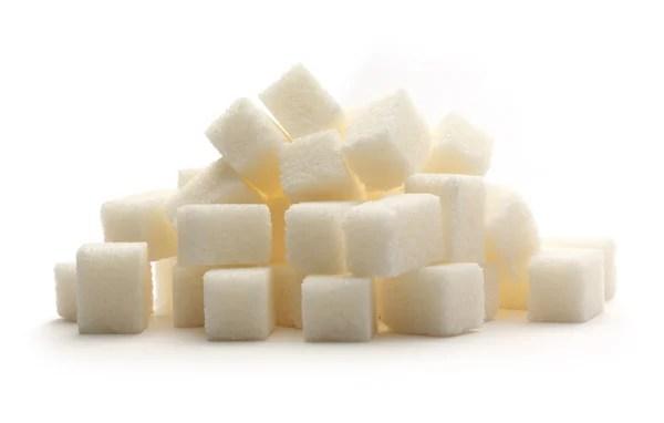 Фото: рандом. Случайные кучу сахар на белом — Стоковое ...