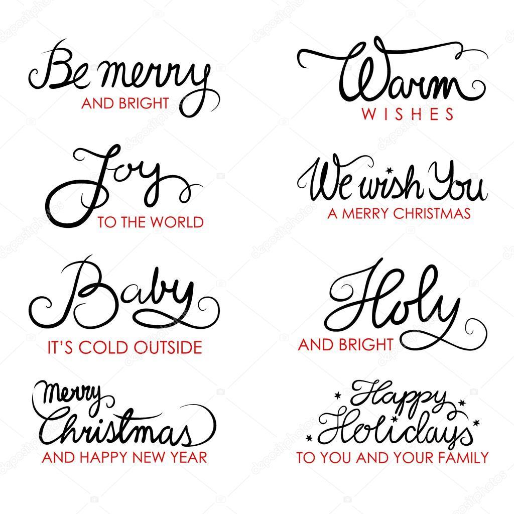 Deseos De Navidad En Ingles Caligrafia Tipografia Oracion