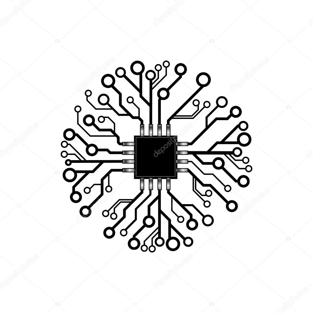 Vector Circuit Board Circle