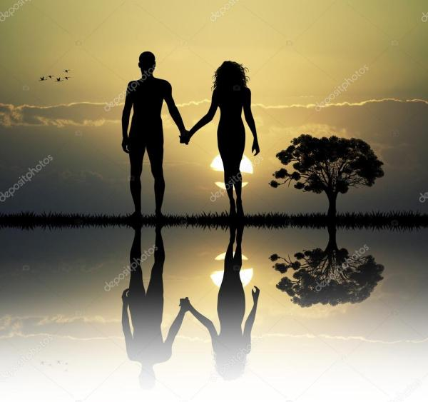 Adam and Eve in the eden — Stock Photo © adrenalina #67787483