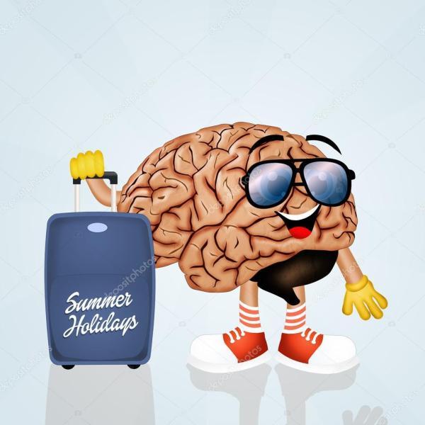 Мозг уходит в отпуск — Стоковое фото © adrenalina #79370776