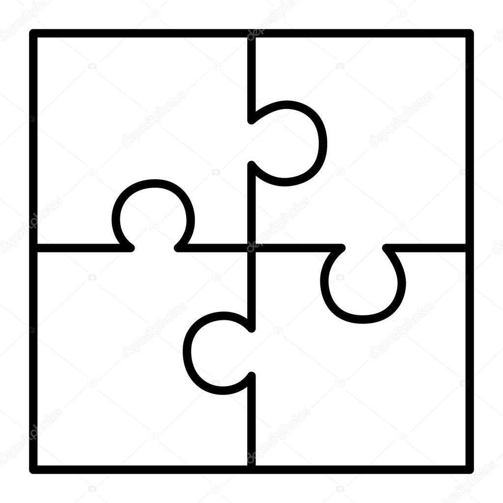 Diagrama De Quebra Cabeca De Quatro Pecas