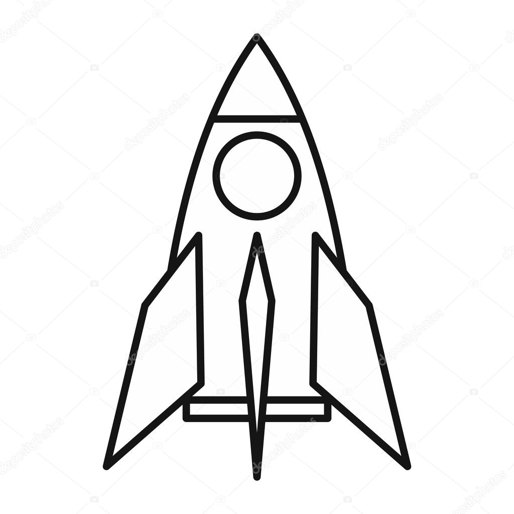 Rocket Icon Outline Style
