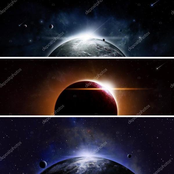 Земной пейзаж из космоса текст Затмение баннеры