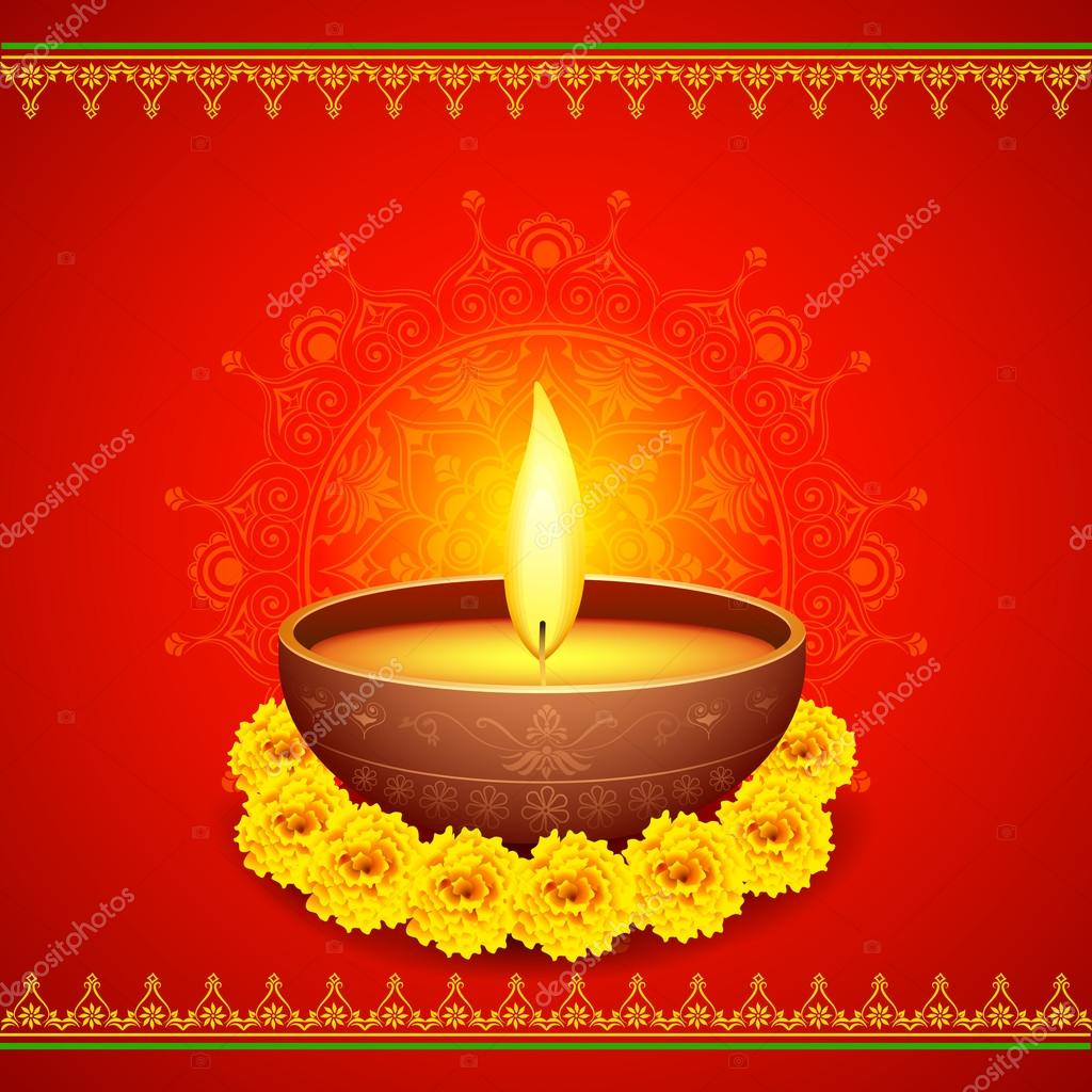 Happy Diwali Diya Stock Vector C Stockshoppe 54896605