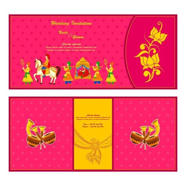 329 hindu wedding cards design vector