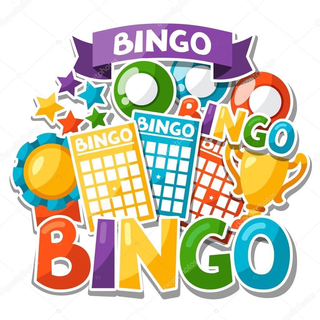 Fondo Juego Bingo O Lotera Con Bolas Y Cartas Vector De