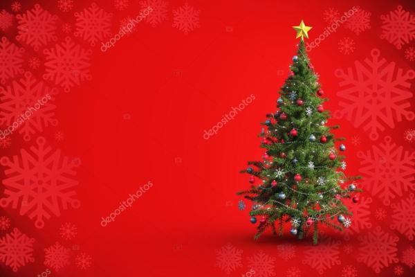Составное изображение елки на белом фоне — Стоковое фото ...