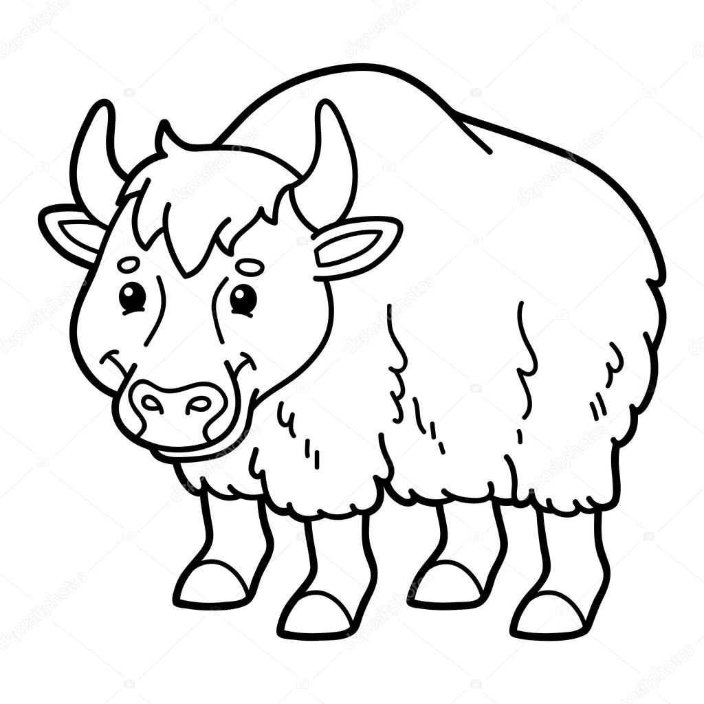 Yak Outline Clip Art At Clkercom Vector Online Royalty
