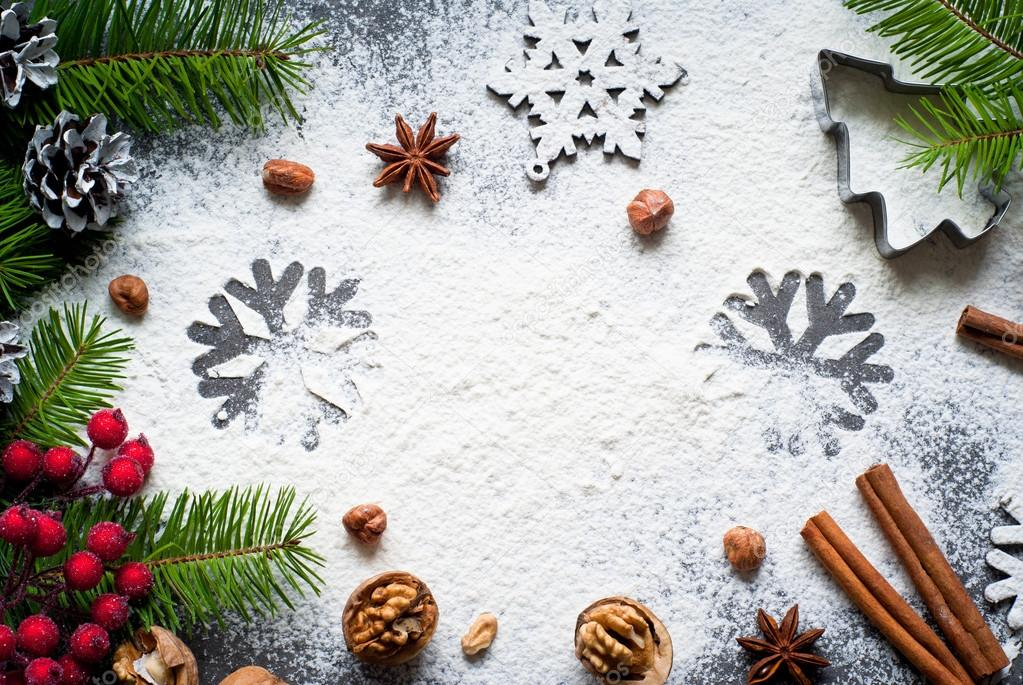 Baking Christmas Background Stock Photo Nadianb 89125204