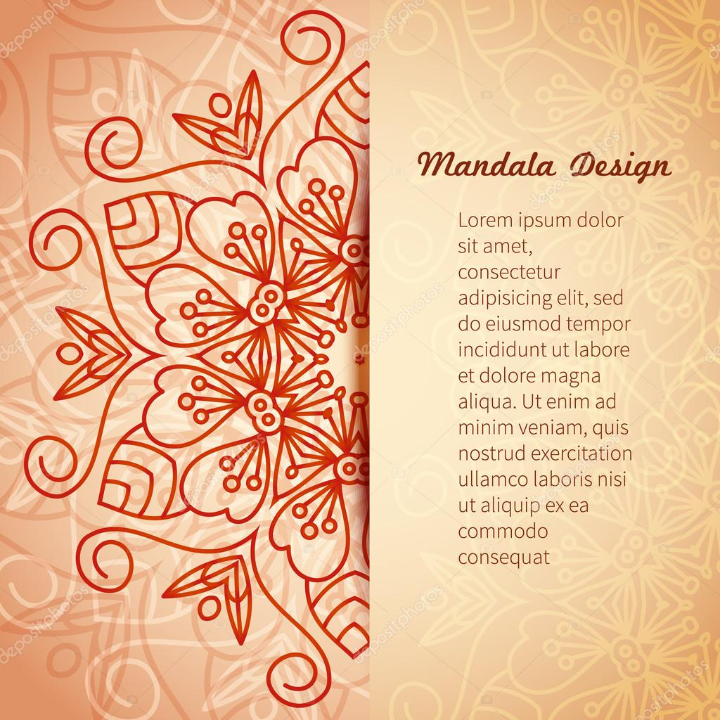 mandala invitation card vector vector image by c lilileka vector stock 104532062