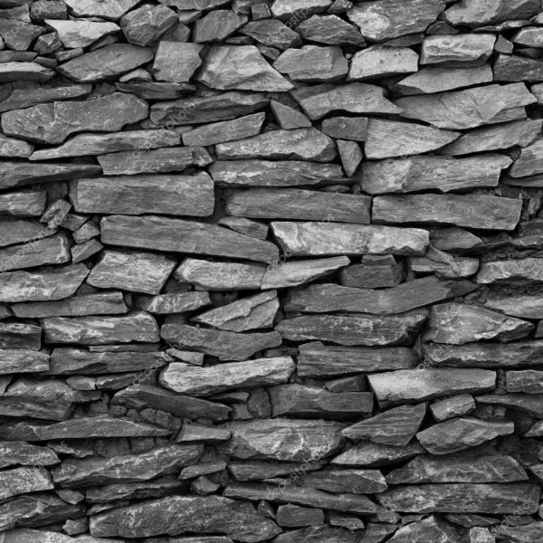 Черно-белые каменные стены — Стоковое фото © nattapol ...