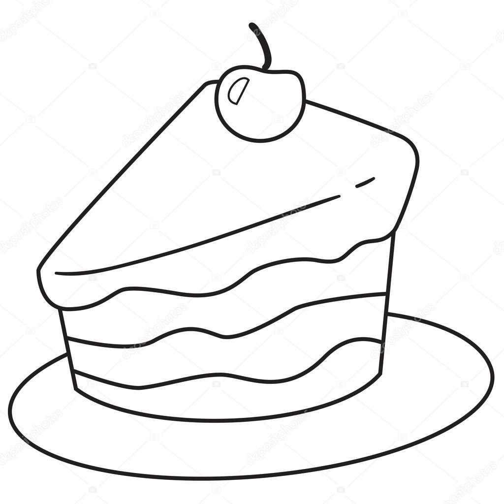 Slice Of Cake Doodle