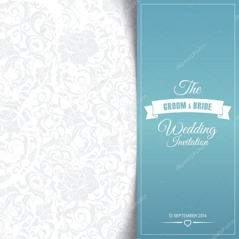 Wedding Invitation Card Editable With Background Chevron Stock Vector 54246275