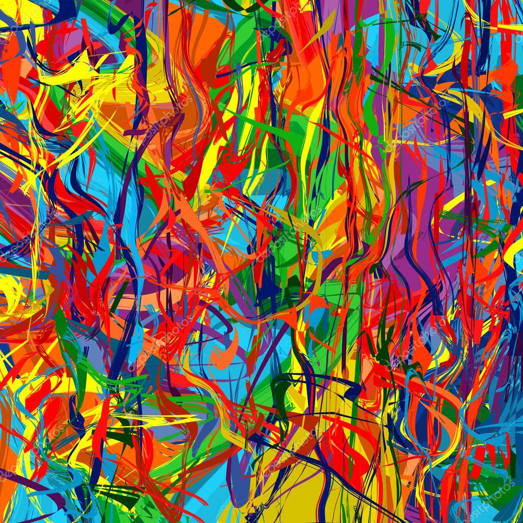 Rainbow Color Splash Brush Strokes Paint Background