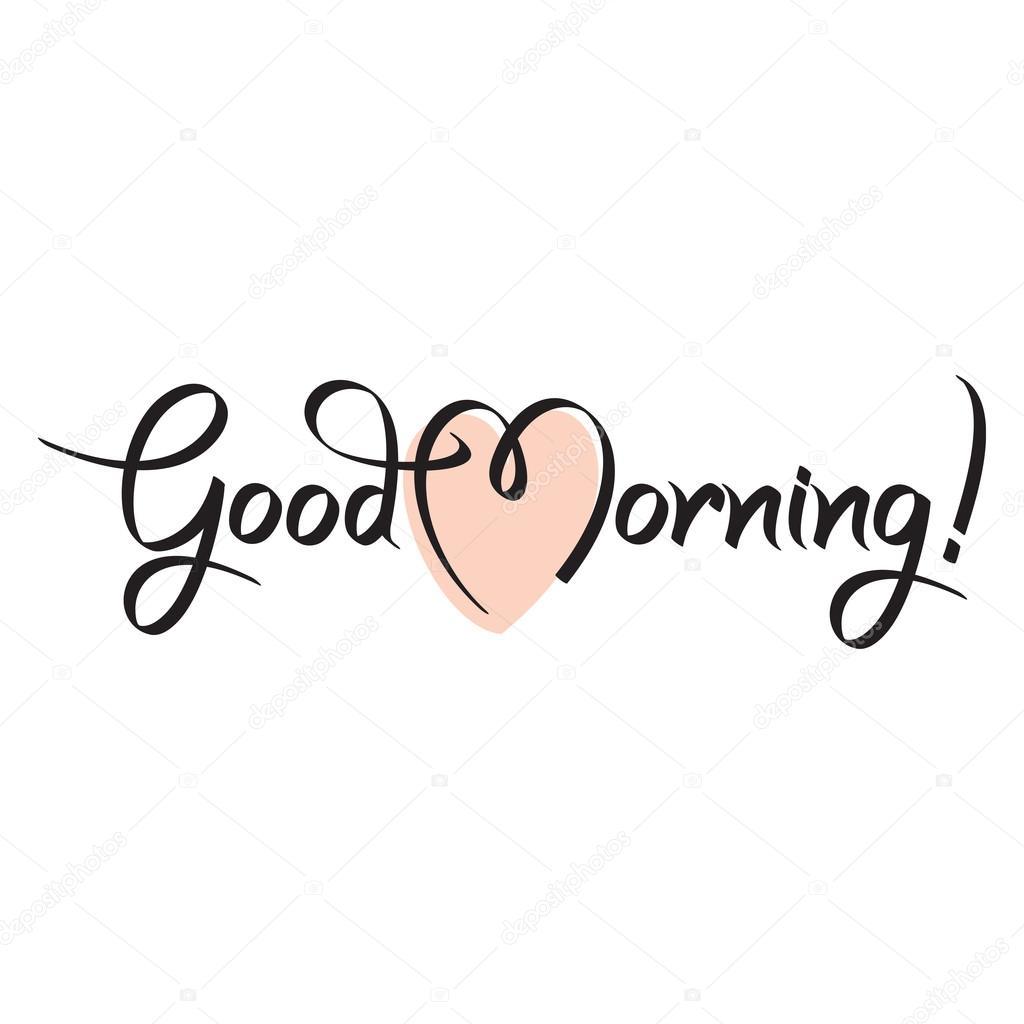 Goedemorgen Hand Tekst Belettering