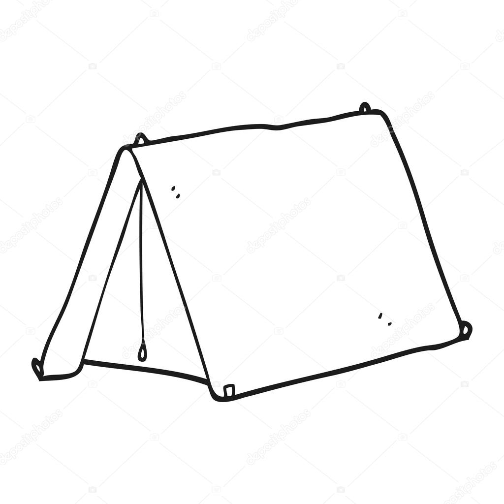 Clipart Tent Black And White