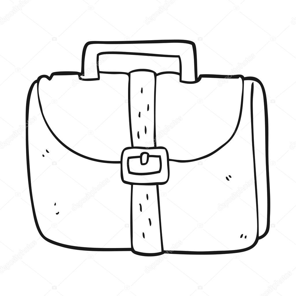 Velho Saco De Trabalho Preto E Branco Dos Desenhos