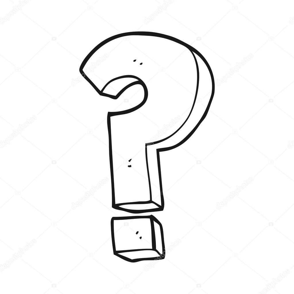 Symbole De Point D Interrogation Noir Et Blanc Dessin