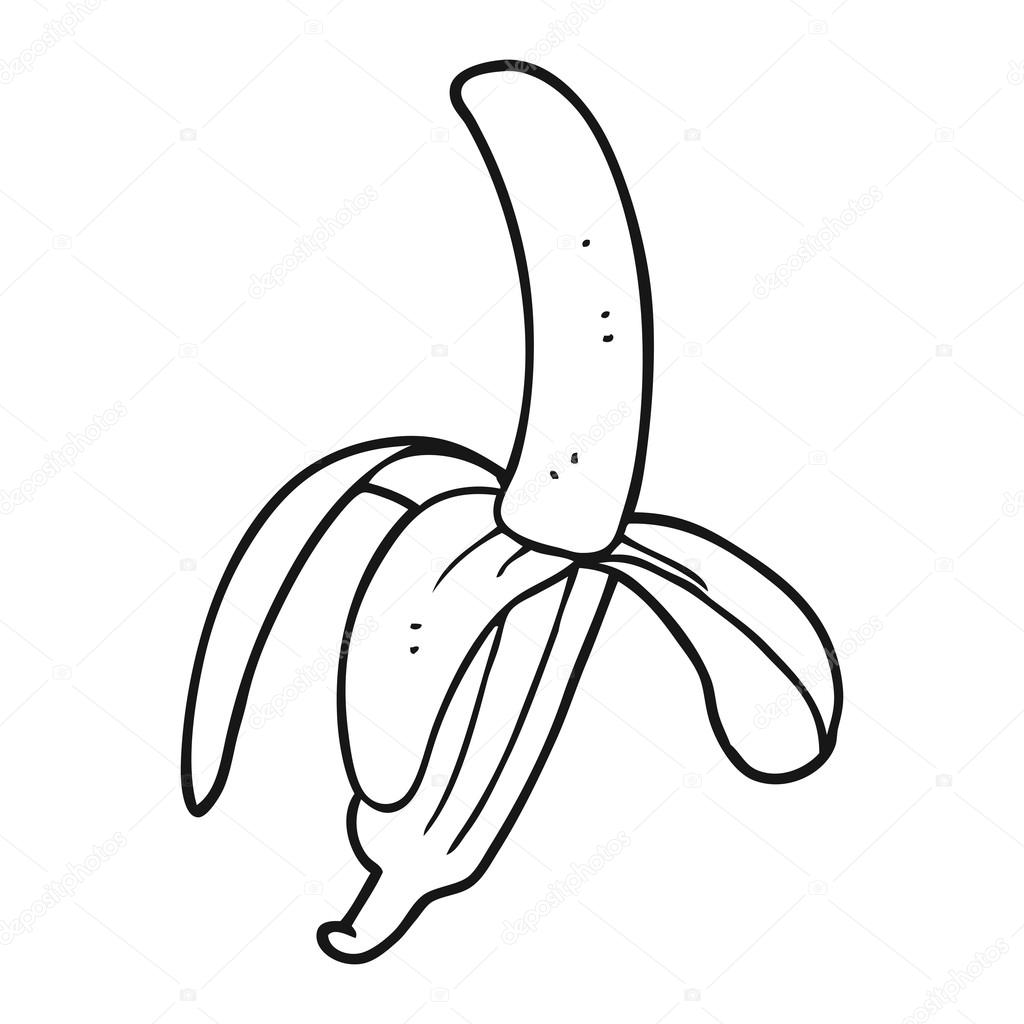 Banane De Dessin Anime Noir Et Blanc