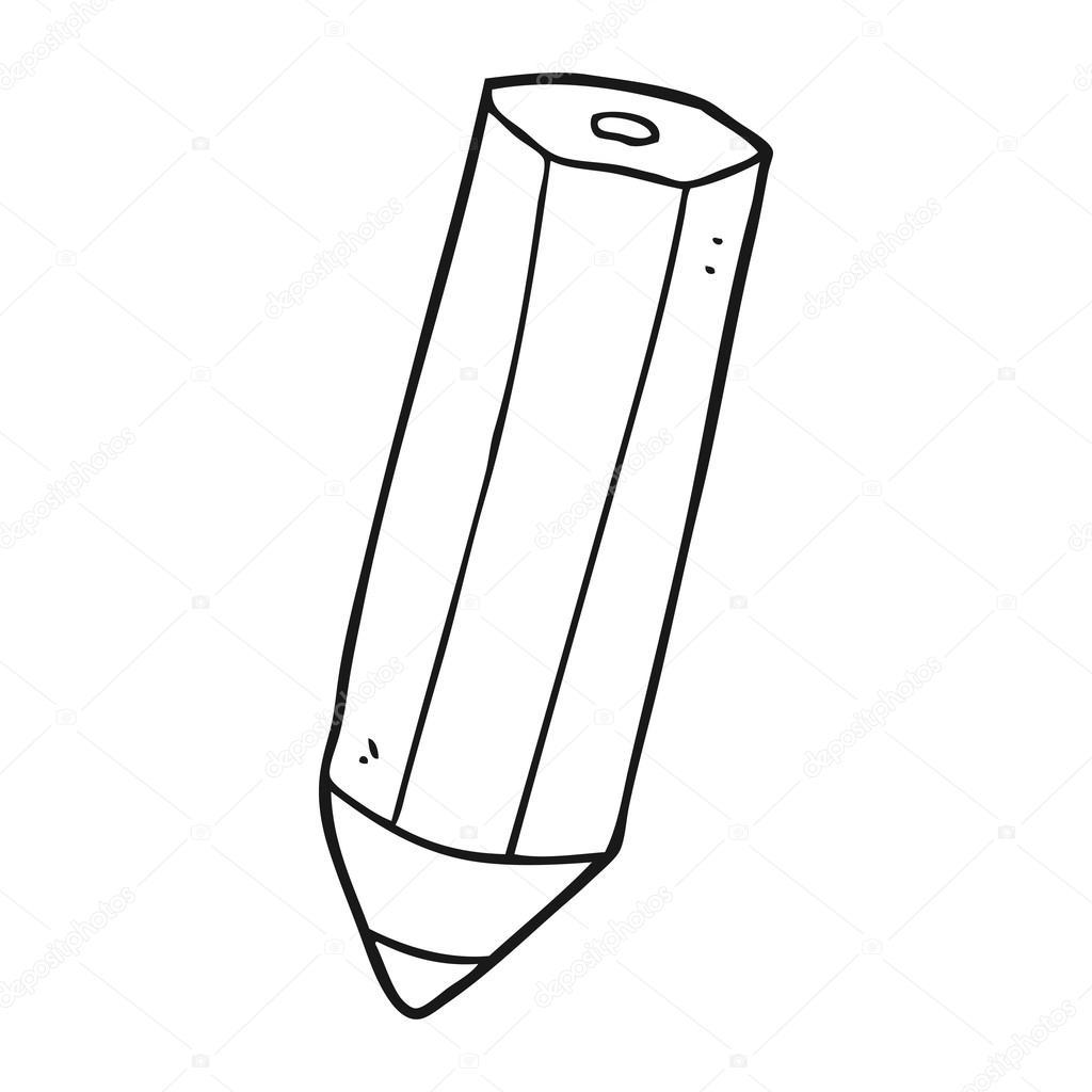 Vector Lapices Blanco Y Negro