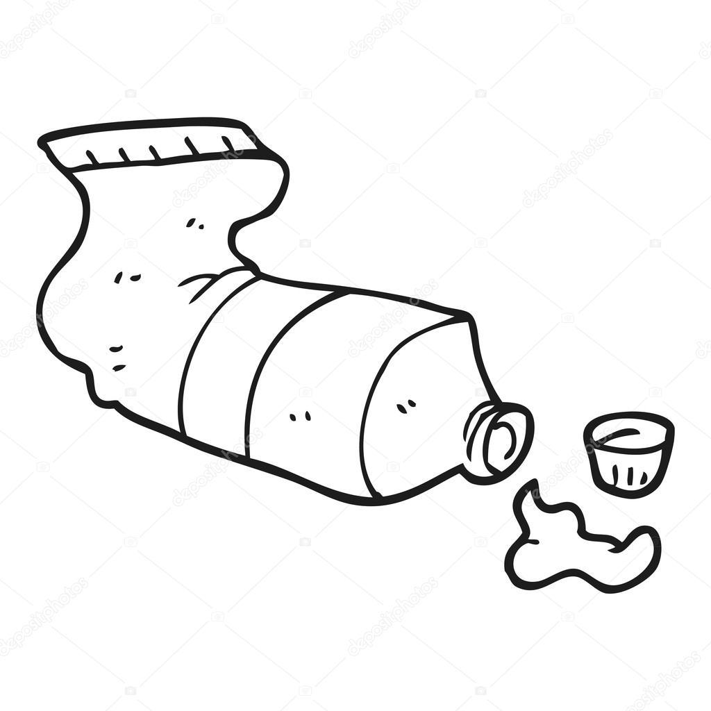 Freihandig Gezeichnete Cartoon Druckte Tube