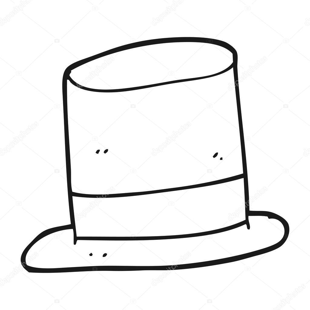 Sombrero De Copa Dibujo Para Colorear