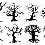 Scary Tree Silhouettes Vector Image By C Yyanng Vector Stock 53969679