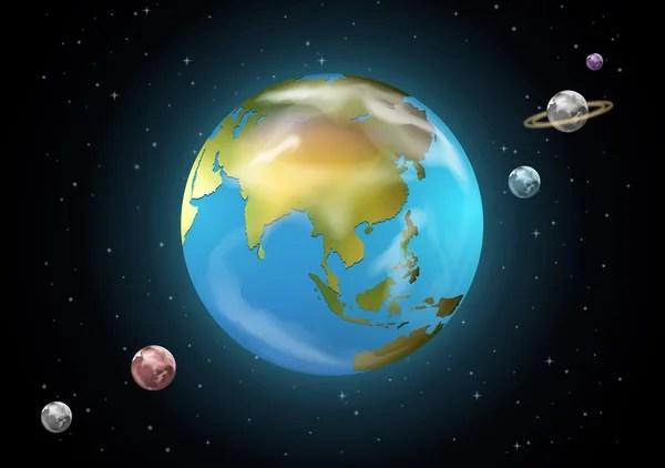 Planetas bonito dos desenhos animados do sistema solar ...