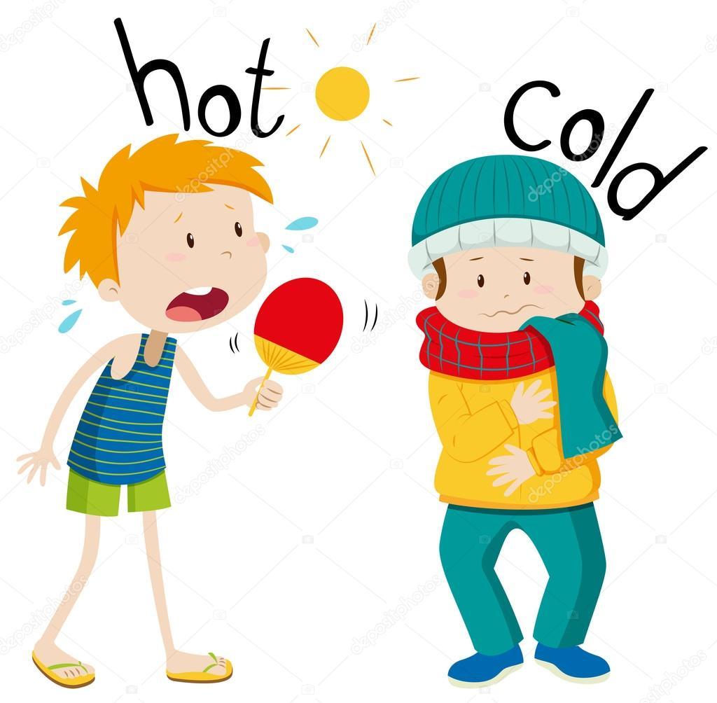 Frente A Adjetivos Frios Y Calientes