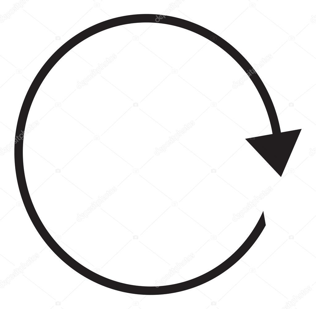 Circular Arrows Clipart Illustration
