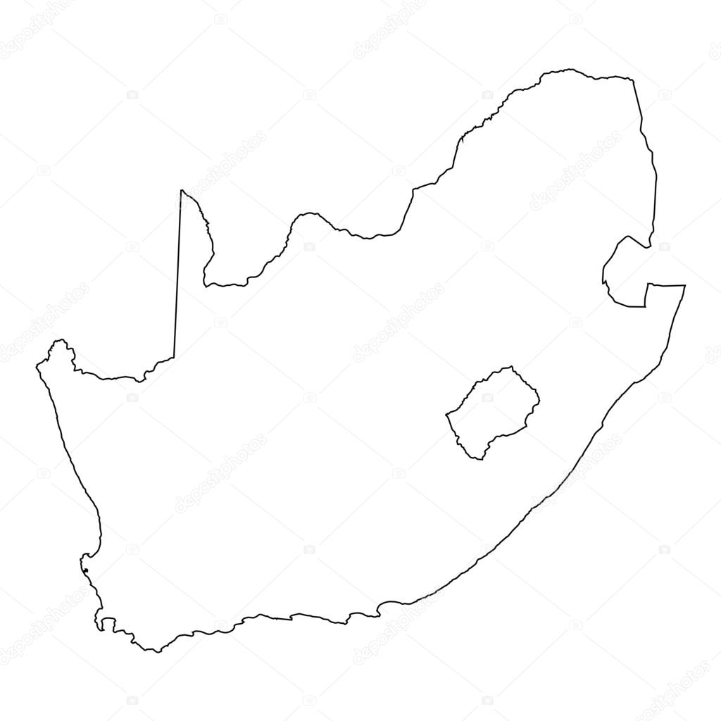 High Detailed Outline Of The Country Of South Africa Stock Vector C Paulstringer 81362256