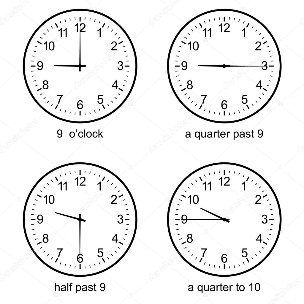 Picture A Clock For Teaching Time