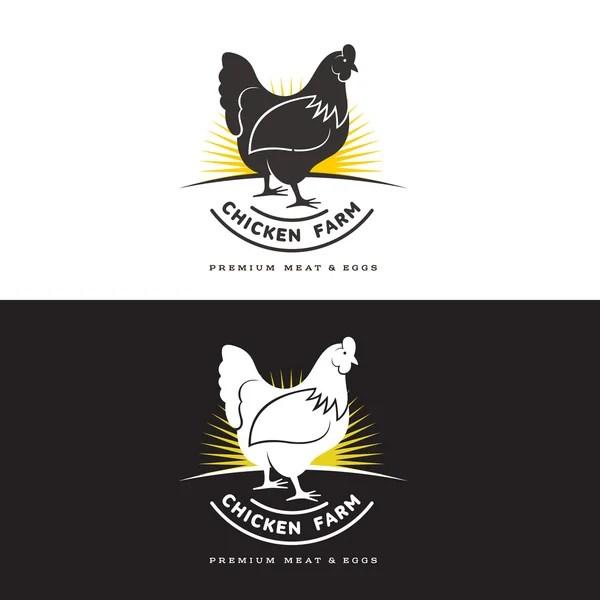 Набор логотипов с курицей — Стоковое фото © Sabelskaya ...