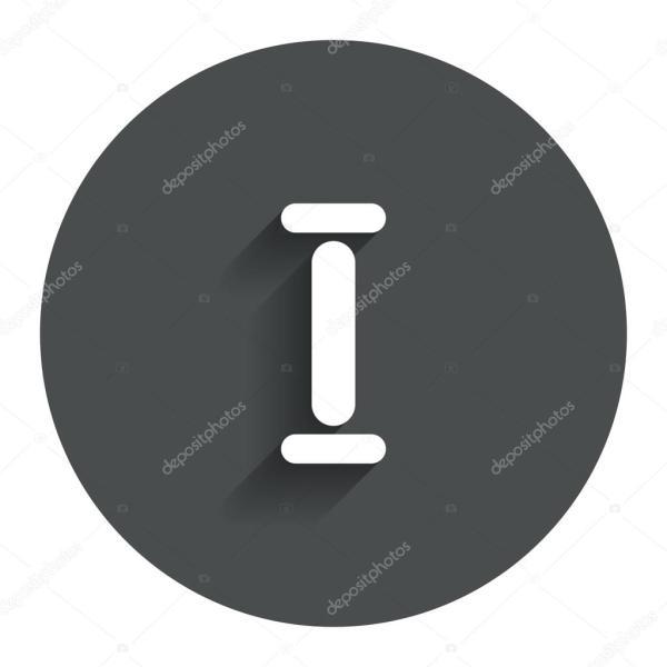 Römische Ziffer ein Symbol. Römisches Zeichen Nummer eins ...