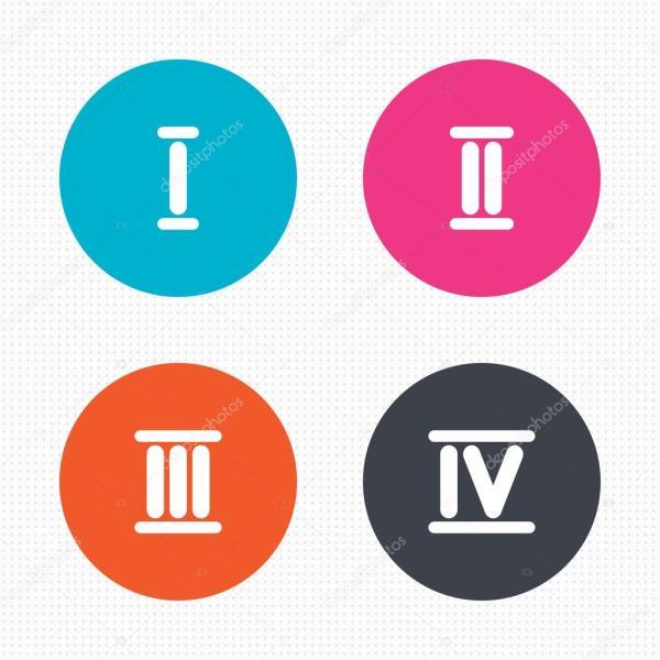 Иконки цифры. Римская цифра значки — Векторное изображение ...
