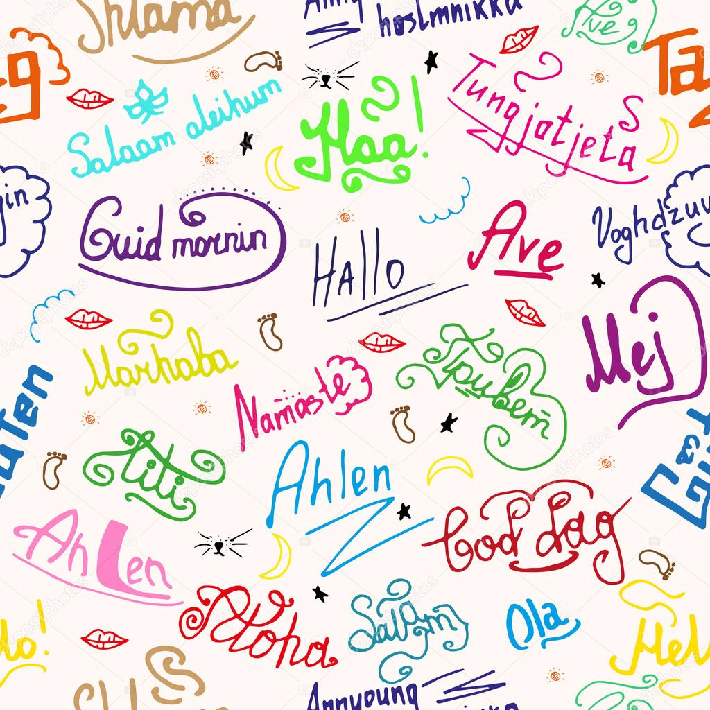 Hello In Different Languages Ink