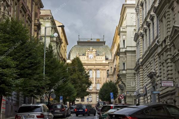 Чешское здание начальной школы, Прага – Стоковое ...