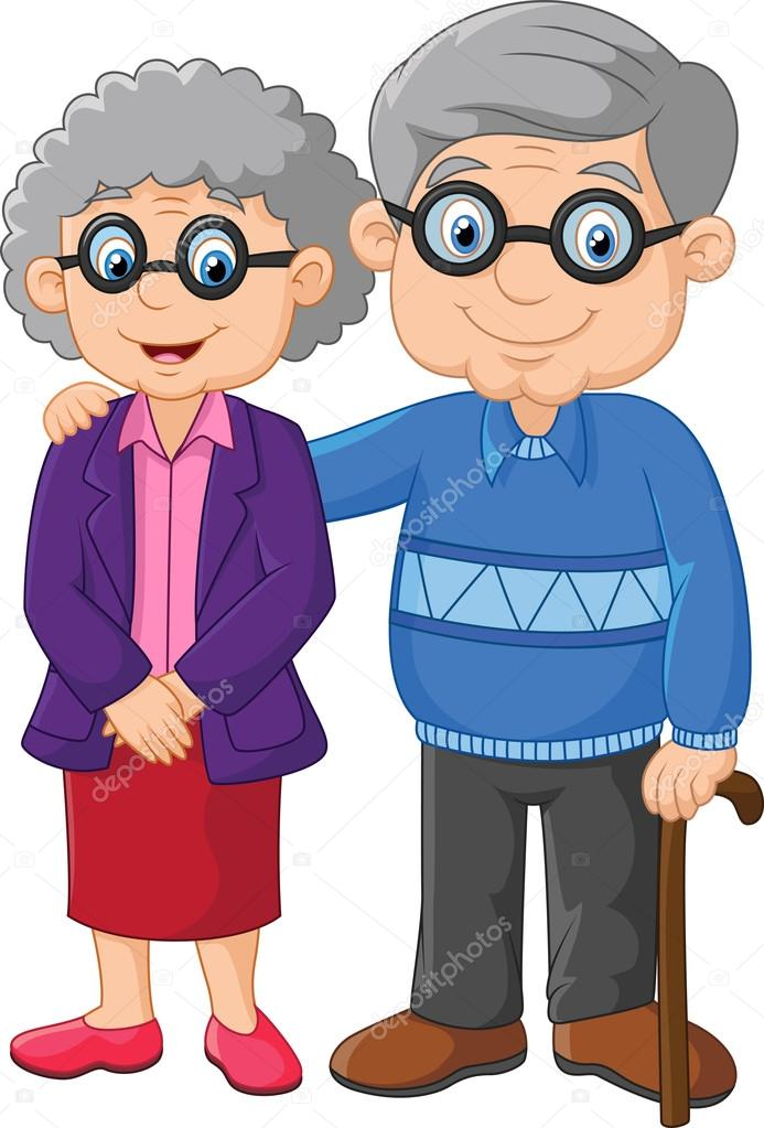 Old Couples Socializing Clip Art